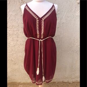 Burgundy boho sundress 3x festivals